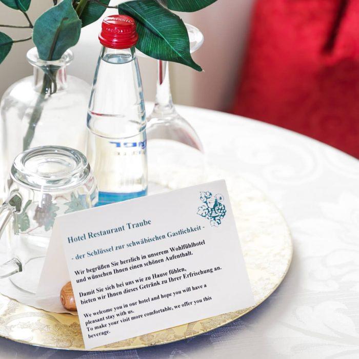 Ambeiten in den Zimmern des Hotels & Restaurants Traube Neuffen