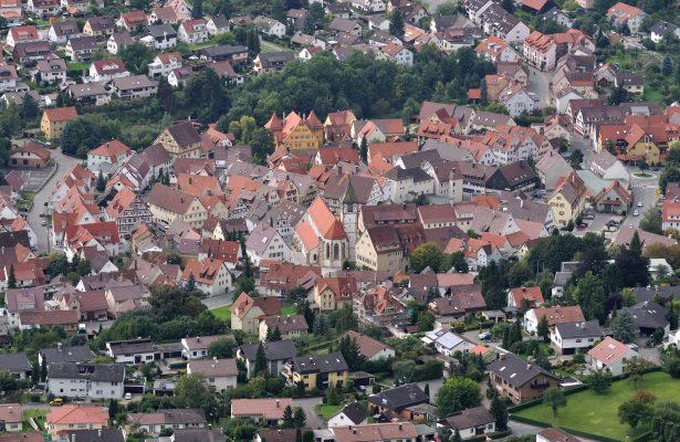 Luftbild Altstadt Neuffen